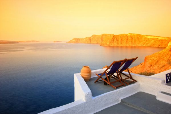 Sunset in Santorini Greek Islands