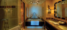 Bathroom at the Al Qasr Hotel